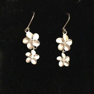 Sterling Silver Flower Earrings From Hawaii Retail